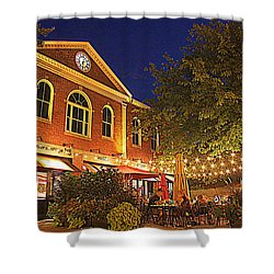 Nightime In Newburyport Shower Curtain