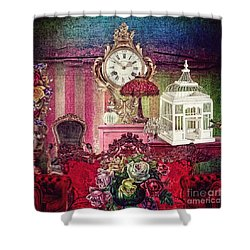 Nightingale Shower Curtain by Mo T