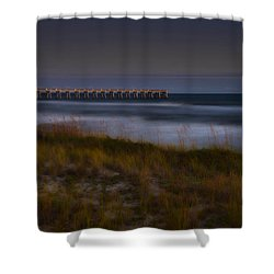 Nightlife By The Sea Shower Curtain by Renee Hardison