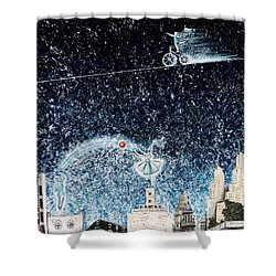 Nights Of Fun Shower Curtain by Graciela Bello