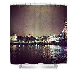 Nighttime In London Shower Curtain