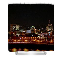 Nighttime In Pdx Shower Curtain