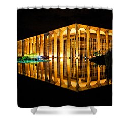 Shower Curtain featuring the photograph Nighttime Reflections by Kim Wilson