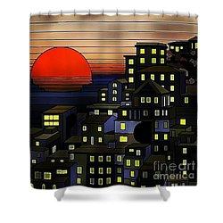 Nighttime Sunset Shower Curtain