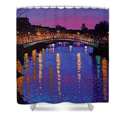 Nighttown Ha Penny Bridge Dublin Shower Curtain