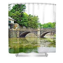 Nijubashi Bridge Shower Curtain