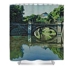 Nijubashi Shower Curtain