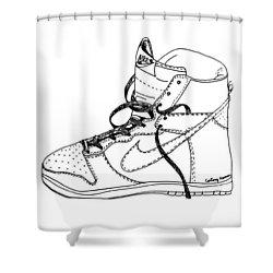 Nike Dunk 001 Shower Curtain