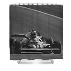 Niki Lauda. 1977 French Grand Prix Shower Curtain