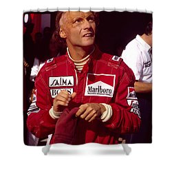 Niki Lauda. Marlboro Mclaren International Shower Curtain