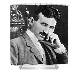 Nikola Tesla Shower Curtain
