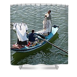 Nile River Merchants Shower Curtain