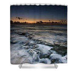 Nimitz Beach Sunrise Shower Curtain