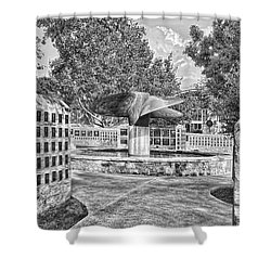 Nimitz Prop Fountain Shower Curtain