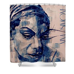 Nina Simone Art  Shower Curtain