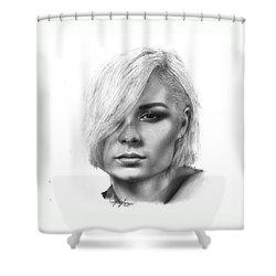 Nina Nesbitt Drawing By Sofia Furniel Shower Curtain