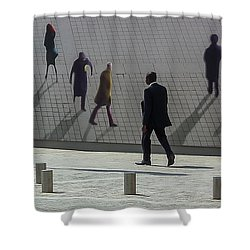 Nine Pedestrians At Place Vendome Shower Curtain