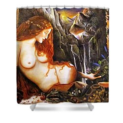 Ninhursag  Mountain Goddess  Shower Curtain