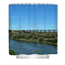 Shower Curtain featuring the photograph Niobrara River by Mark McReynolds