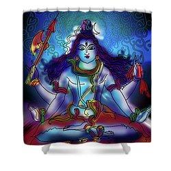 Nirvikalp Samadhi Kapali Shiva Shower Curtain