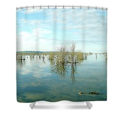 Nisqually High Tide Shower Curtain