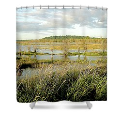 Nisqually Tide Coming In Shower Curtain