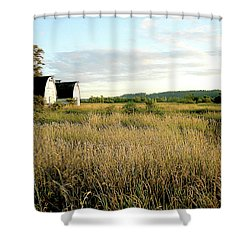Nisqually Two Barns Shower Curtain