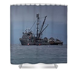 Shower Curtain featuring the photograph Nita Dawn And Cape George by Randy Hall