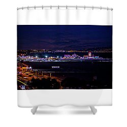 Nite Life On The Pier Shower Curtain