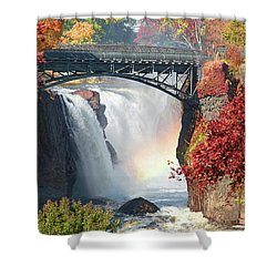 Nj Great Falls In Autumn Shower Curtain by Regina Geoghan