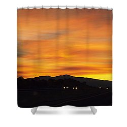 Nm Sunrise Shower Curtain by Adam Cornelison