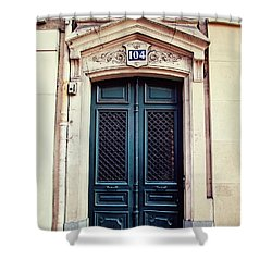 No. 104 - Paris Doors Shower Curtain