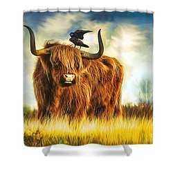 No Crow About It Shower Curtain