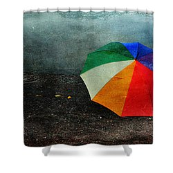No Day For A Tan Shower Curtain by Randi Grace Nilsberg