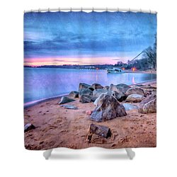 Shower Curtain featuring the photograph No Escape by Edward Kreis