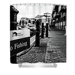 No Fishing Shower Curtain
