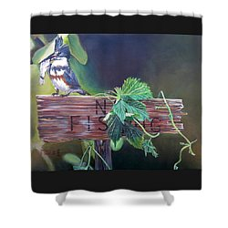 No Fishing Shower Curtain