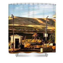 Shower Curtain featuring the photograph No Gas... by Albert Seger