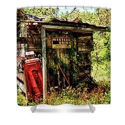 No Gas, No Money Shower Curtain
