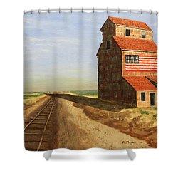 No Grain, No Train Shower Curtain