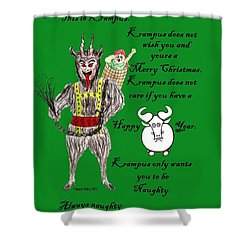 No Happy Gnu Year Shower Curtain