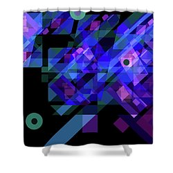 No Illusions Shower Curtain by Lynda Lehmann