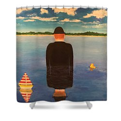 No Man Is An Island T-shirt Shower Curtain