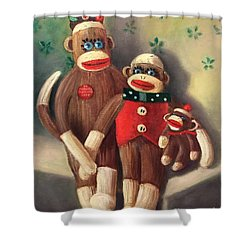 No Monkey Business Here 2 Shower Curtain