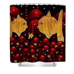 No More Cesium 137 Shower Curtain by Pepita Selles