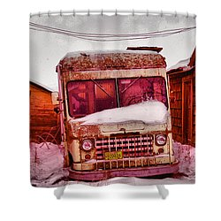 Shower Curtain featuring the photograph No More Deliveries by Jeff Swan