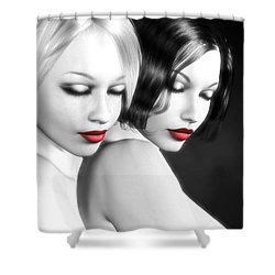 No More Secrets Shower Curtain by Alexander Butler