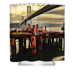 No Name Dock Shower Curtain