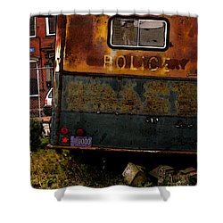 No Need For The Black Maria Shower Curtain by Jay Ressler