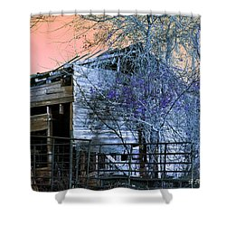 Shower Curtain featuring the photograph No Ordinary Barn by Betty Northcutt